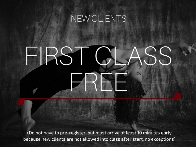 first yoga class free